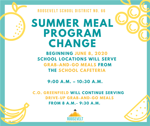 summer meal program changes graphic