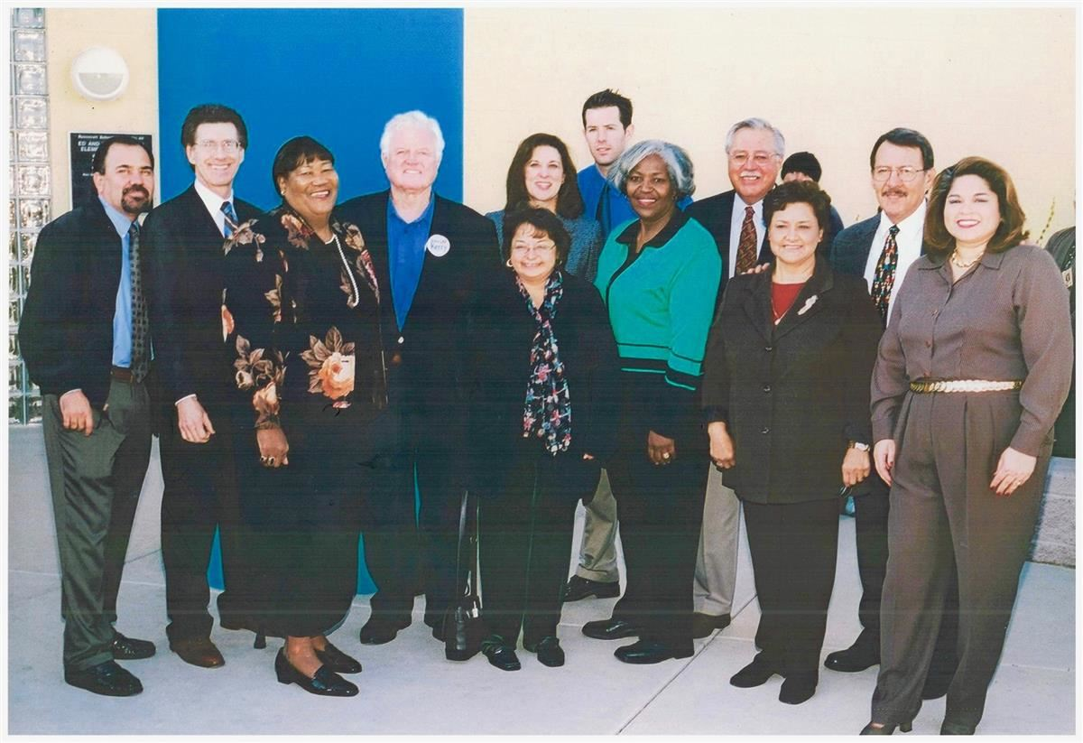 Sen. Ted Kennedy visits Ed & Verma Pastor in 2004.